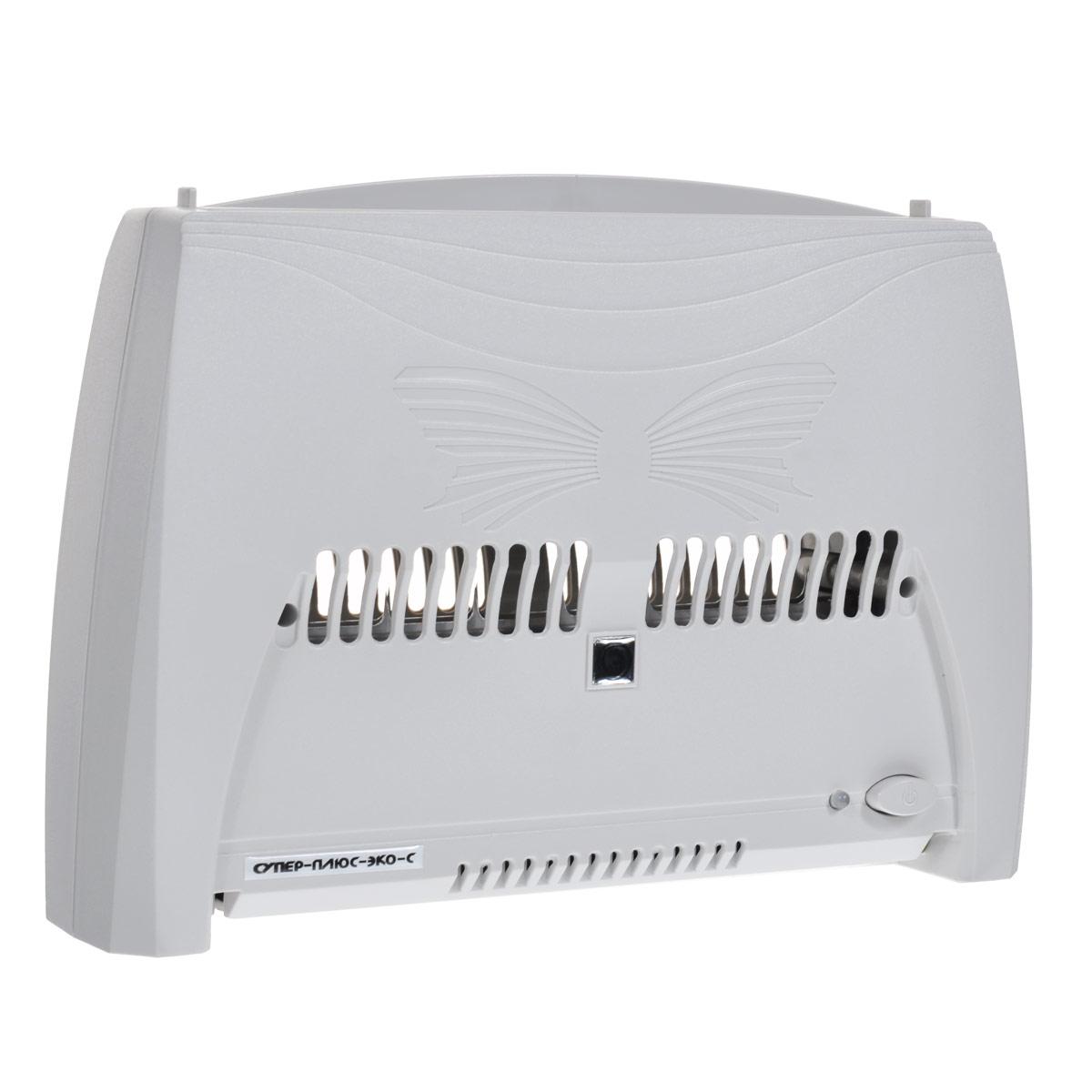 Супер Плюс Эко-С, Silver очиститель-ионизатор воздуха1920Прибор Супер Плюс Эко-С состоит из двух основных частей: корпуса и кассеты. Кассета вставляется в прибор сверху. Электронная система информирует о необходимости помыть кассету отключением прибора и миганием красного индикатора.Работа прибора Супер Плюс Эко-С основана на принципе ионного ветра, который возникает в результате коронного разряда и обеспечивает движение воздуха через кассету прибора. Частицы пыли и аэрозоля, находящиеся в воздухе и невидимые невооруженным глазом, прокачиваются вместе с воздухом через кассету, ионизируются, т.е. приобретают электрический заряд, и под действием электростатического поля прилипают к пластинам, расположенным внутри кассеты.Воздух, проходящий через кассету, также обогащается озоном. Но количество озона, которое образуется в зоне коронного разряда, заметно меньше предельно допустимой концентрации (ПДК). И все же его достаточно для того, чтобы в помещении, в котором работает прибор, уничтожались неприятные запахи, подавлялась жизнедеятельность болезнетворных микробов, бактерий, спор грибков, плесени.Одновременно с очисткой происходит ионизация воздуха. Но в нашем приборе, что очень важно, ионами кислорода обогащается воздух, уже очищенный от пыли! Воздухоочиститель создает оптимальный уровень ионизации воздуха в помещении в соответствии с природными показателями и требованиями санитарно-гигиенических норм.Размер улавливаемых частиц в пределах: 0,3-100 мкмКоэффициент фильтрации: до 90 %Концентрация отрицательных аэроионов на расстоянии 1м: до 20000 ион/см3Концентрация озона в помещении: не более 10 мкг/м3Работает без сменных фильтровРежимы работы: минимальный, оптимальный, максимальныйПлощадь обслуживаемого помещения: до 70 м3