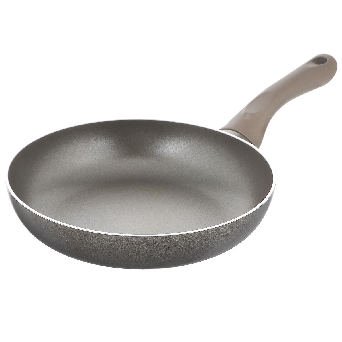 Сковорода Beka Platinum, с антипригарным покрытием. Диаметр 24 см40097244Сковорода Beka Platinum изготовлена из алюминия с антипригарным покрытием. Это экологически чистое покрытие, которое безопасно для здоровья человека, так как не содержит вредных соединений PFOA. В случае перегрева не выделяет опасных веществ. В сковороде с таким покрытием пища не пригорает и не прилипает к стенкам, поэтому готовить можно с минимальным количеством масла. Максимальная температура нагрева +220°C. Сковорода снабжена удобной пластиковой ручкой. Рекомендуется использовать деревянные или пластиковые лопатки. Подходит для приготовления пищи на газовых, электрических, керамических и галогеновых плитах. Не пригодна для приготовления пищи на индукционной плите. Можно мыть в посудомоечной машине.
