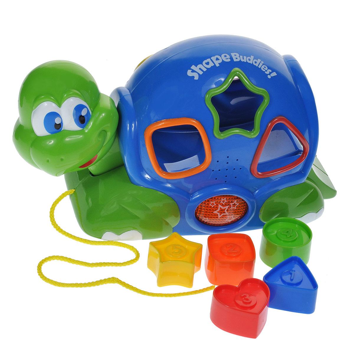 Игрушка-сортер Keenway Черепашка, 6 предметов развивающая игрушка keenway черепашка с пазлами звук свет фигурки