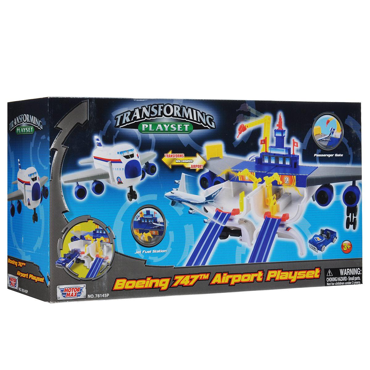 """MotorMax Игровой набор """"Boeing 747. Airport Playset"""""""