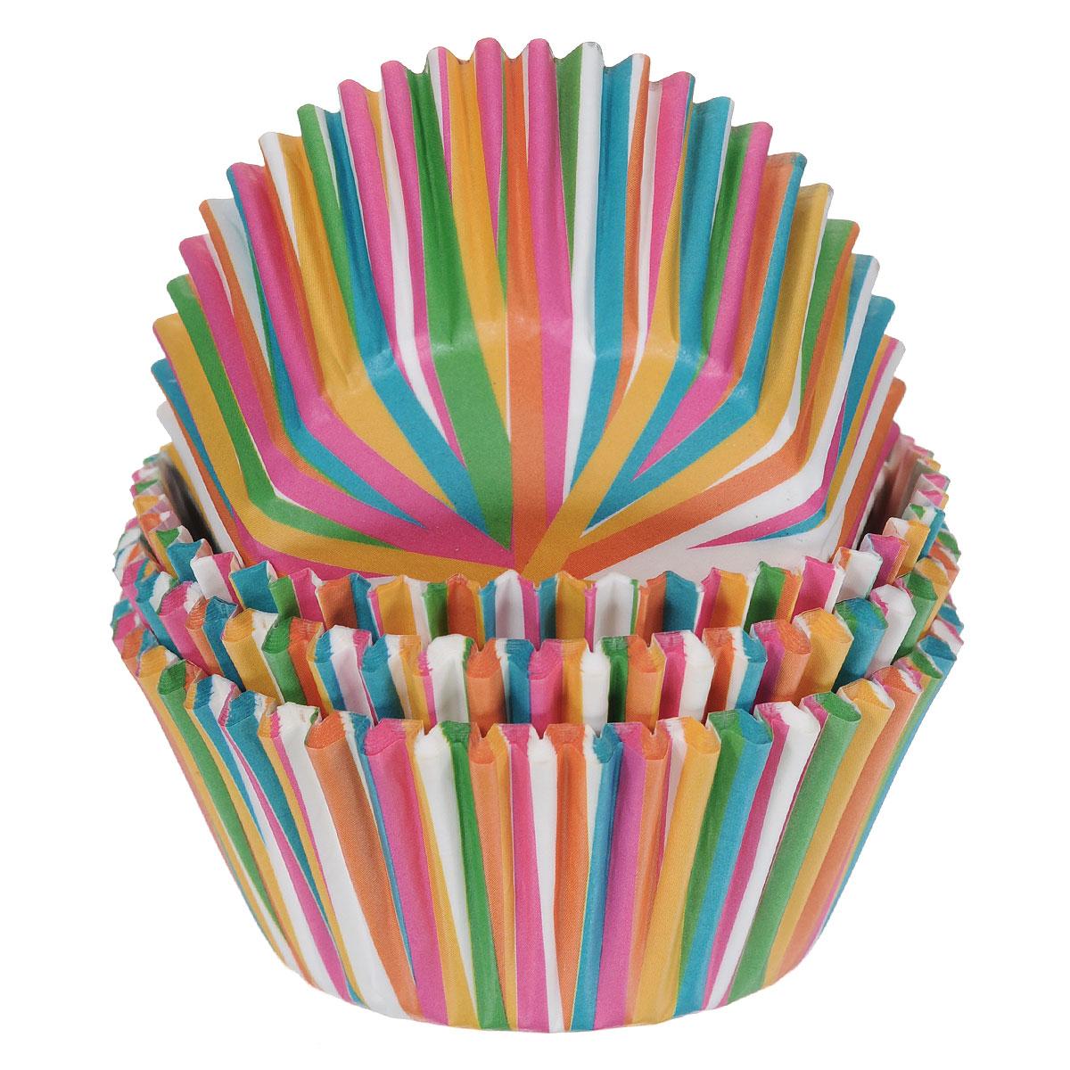 Набор бумажных форм для кексов Wilton Цветное колесо, диаметр 7 см, 75 штWLT-415-1868Бумажные формы Wilton Цветное колесо используются для выпечки, украшения и упаковки кондитерских изделий, сервировки конфет, орешков, десертов. Края форм гофрированные. С такими формами вы всегда сможете порадовать своих близких оригинальной выпечкой.