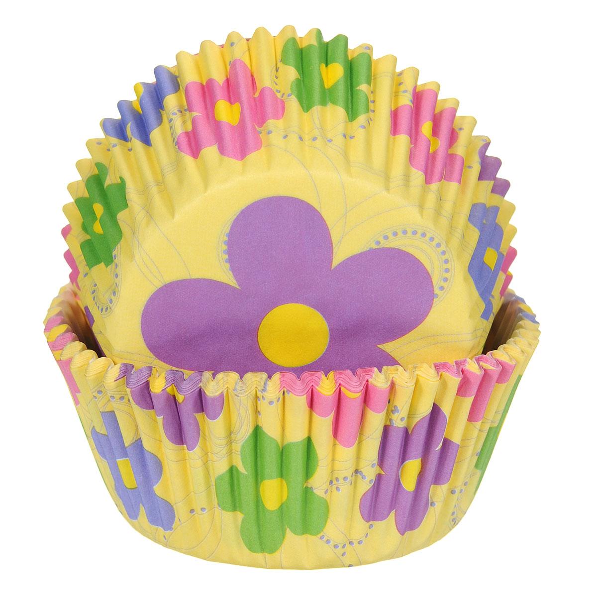 Набор бумажных форм для кексов Wilton Танцующие цветы, диаметр 6 см, 50 штWLT-415-7812Бумажные формы Wilton Танцующие цветы используются для выпечки, украшения и упаковки кондитерских изделий, сервировки конфет, орешков, десертов. Края форм гофрированные. С такими формами вы всегда сможете порадовать своих близких оригинальной выпечкой.