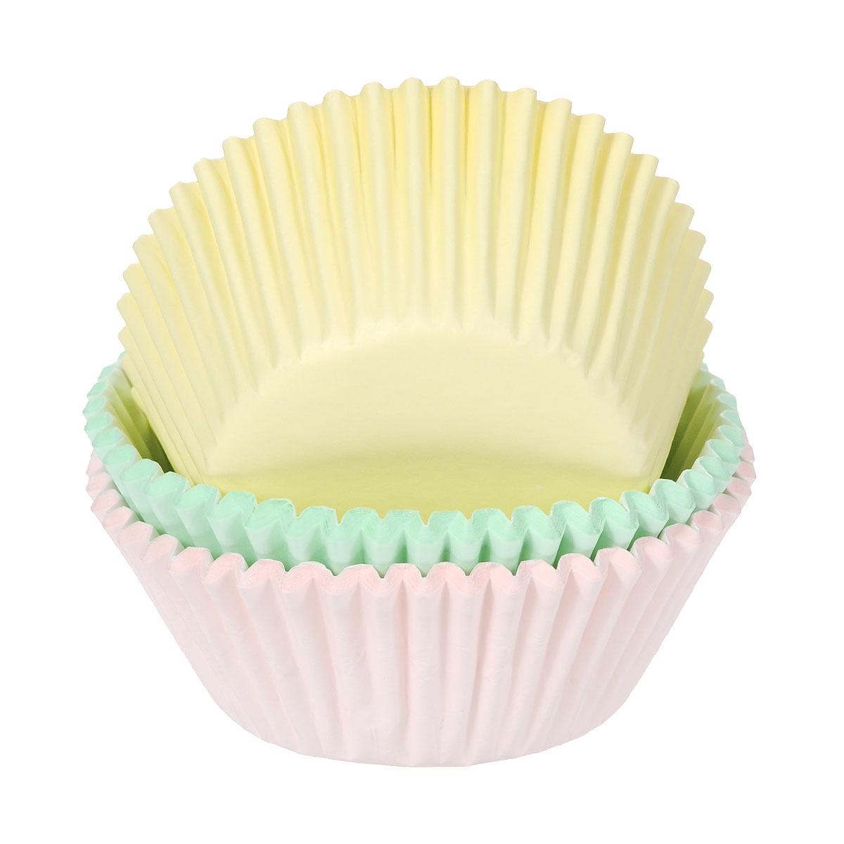 Набор бумажных форм для кексов Wilton Пастель, диаметр 7 см, 75 штWLT-415-394Бумажные формы Wilton Пастель используются для выпечки, украшения и упаковки кондитерских изделий, сервировки конфет, орешков, десертов. Края форм гофрированные. С такими формами вы всегда сможете порадовать своих близких оригинальной выпечкой.