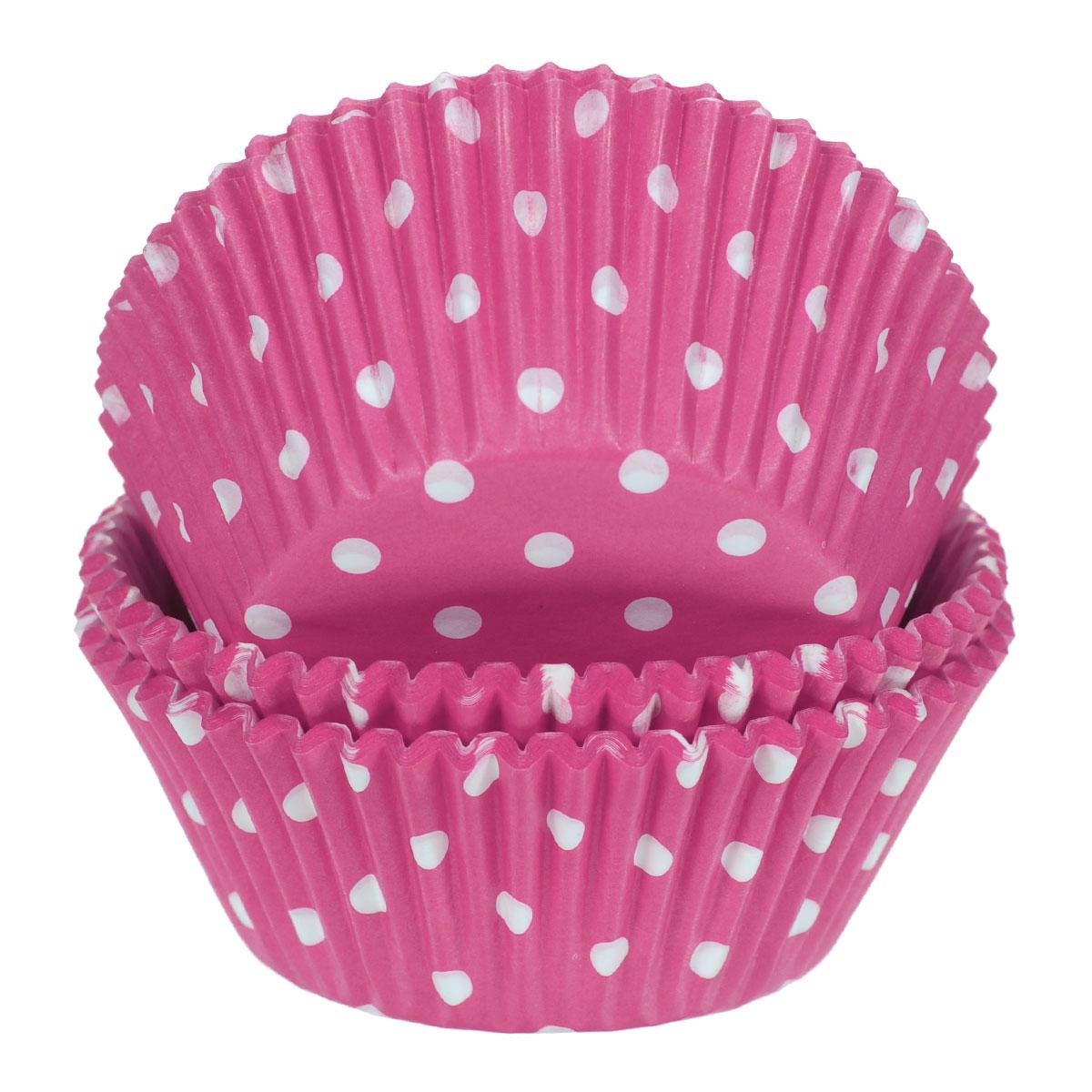 Набор бумажных форм для кексов Wilton Розовый горох, диаметр 7 см, 75 шт. WLT-415-0158
