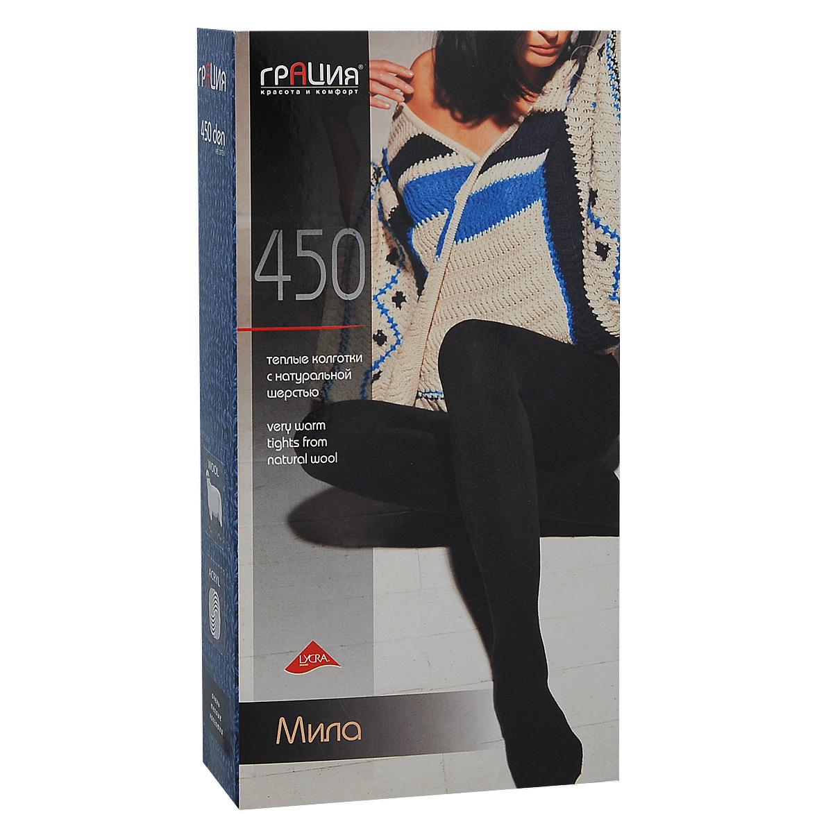 Колготки женские Грация Мила 450, цвет: черный. Размер 3 диск грация на avito