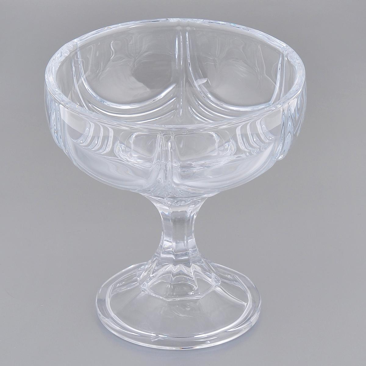 Конфетница на ножке Crystalite Bohemia Орион, высота 15 см59002/3/99001/150Конфетница на ножке Crystalite Bohemia Орион изготовлена из прочного утолщенного стекла кристалайт. Конфетница имеет оригинальную форму в виде чаши, что делает ее изящным украшением праздничного стола. Она красиво переливается и излучает приятный блеск. Изделие прекрасно подходит для сервировки конфет, пирожных и т.д.Конфетница на ножке Crystalite Bohemia Орион - это изысканное украшение праздничного стола, интерьера кухни или комнаты. Такая ваза станет желанным и стильным подарком. Можно использовать в посудомоечной машине и микроволновой печи.