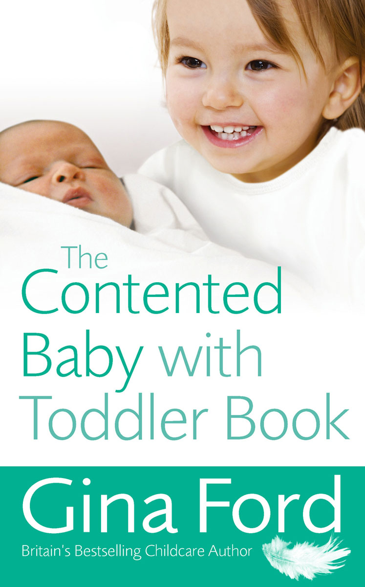 Contented Baby with Toddler Book from crying baby to contented baby