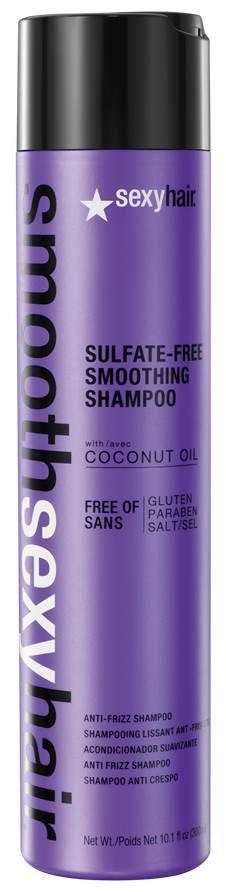Sexy Hair Шампунь для волос Sulfate Free Smoothing Shampoo, разглаживающий, 50 млSM-38SHA01Преобразует пушащиеся, волнистые и кудрявые волосы в гладкие, мягкие и блестящие. Не содержит сульфатов, клейковины, парабенов и солей. Обеспечивает гладкость, мягкость, блеск и баланс влаги. Сохраняет стойкость кератинового и химического выпрямления, работает на наращённых волосах. Кокосовое масло помогает бороться с пушащимися волосами, придавая им гладкость, предотвращает открытие кутикулы и излишние трение волос, отталкивает влагу. Товар сертифицирован.