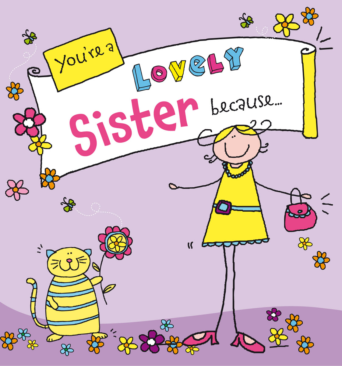 You're a Lovely Sister Because. . . 30pcs in one postcard take a walk on the go dubai arab emirates christmas postcards greeting birthday message cards 10 2x14 2cm