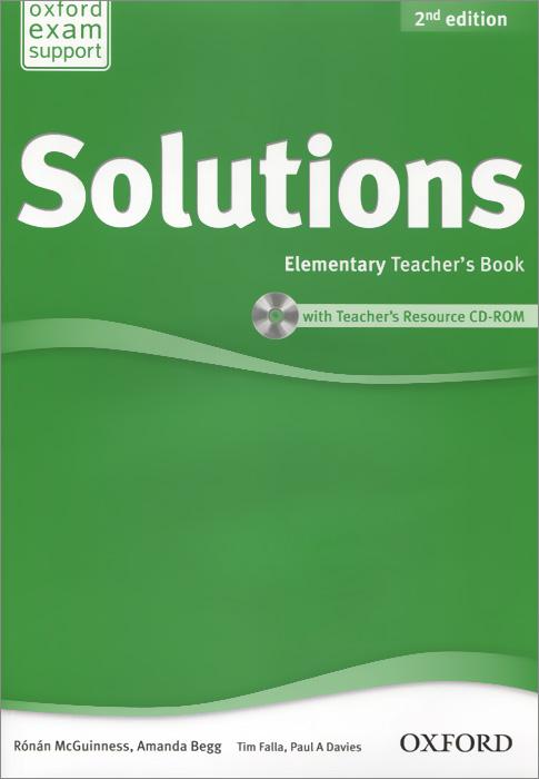 Solutions: Elementary: Teacher's Book (+ CD-ROM) год до школы от а до я тетрадь по подготовке к школе