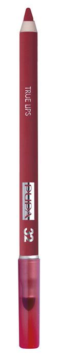 PUPA Карандаш для губ с аппликатором True Lips Pencil тон №32 клубничный красный, 1.2 г025632Контурный карандаш для губ с аппликатором для растушёвки True Lips очерчивает губы, придавая им контур, с помощью яркого насыщенного цвета.Мягкая, пластичная и очень приятная текстура позволяет идеально прорисовывать контур губ. Очень легко наносится и даёт возможность двойного применения: - самостоятельное использование карандаша на всей поверхности губ для создания изысканного матового эффекта. - применение карандаша перед нанесением помады для увеличения её стойкости.Цветовая гамма состоит из 16 восхитительных оттенков, которые идеально подходят для одновременного применения с помадами Im.