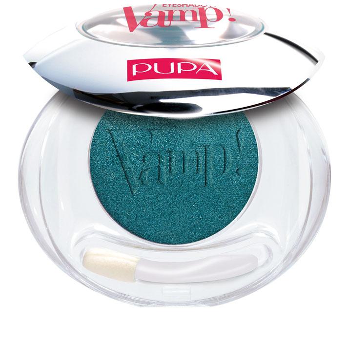 PUPA Компактные тени Vamp!, сатиновые, тон №304 тропический зеленый, 2,5 г компактные двойные тени vamp duo тон 004 бронзовый янтарный pupa