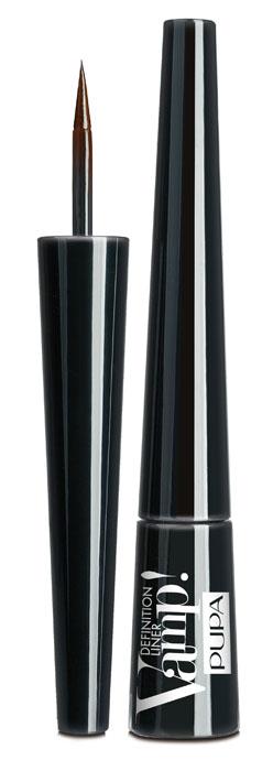 PUPA Подводка для глаз тон 200 с фетровым аппликатором VAMP! DEFINITION LINER, коричневый,2,5 мл. подводка pupa vamp professional liner цвет 100 extrablack variant hex name 0f1012