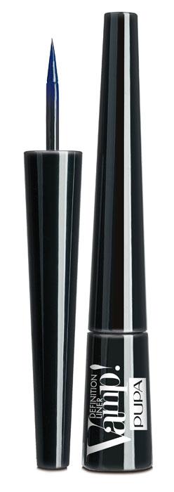 PUPA Подводка для глаз тон 300 с фетровым аппликатором VAMP! DEFINITION LINER, глубокий синий,2,5 мл. pupa подводка для глаз тон 100 водостойкая с ультратонкой кистью vamp professional liner черный 4 5 мл