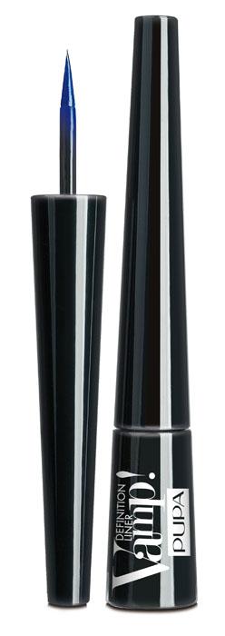 PUPA Подводка для глаз тон 301 с фетровым аппликатором VAMP! DEFINITION LINER, Синий электрик,2,5 мл.A8195500Подводка для глаз с фетровым аппликатором. Vamp! Definition Liner оставляет чёткую линию необыкновенно насыщенного цвета. Мягкий фетровый кончик обеспечивает безупречное равномерное нанесение. Жидкая и лёгкая формула быстро высыхает.6 ультра-гламурных оттенков с двумя эффектами: матовый и перламутровый.