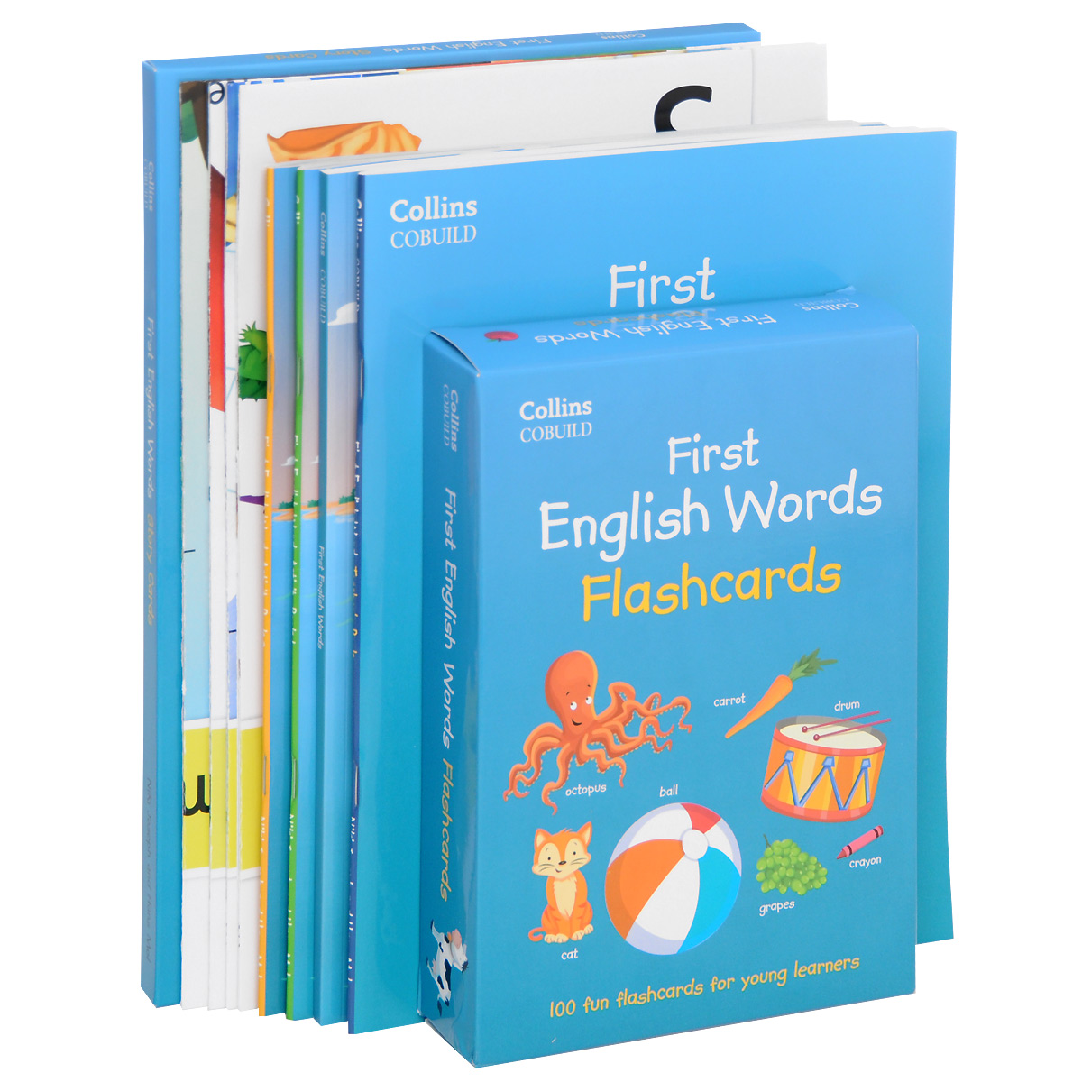 First English Words: Activity Pack: Age 3-7 (комплект из 4 книг, набор из 32 карточек, набор из 100 карточек, 4 плаката, 2 CD) playway to english 4 flash cards набор из 106 карточек