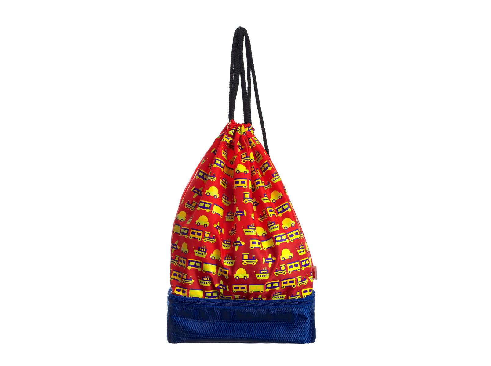 Рюкзак-термоланчбокс Iris Barcelona Snack Rico, цвет: красный, синий9927-TCCВ рюкзаке Iris Barcelona Snack Rico два-в-одном найдется и место для целого обеда, который соберет заботливая мама, и место для всего, что может понадобиться в любой момент: халата или пижамы, свитера, дождевика, книжек, пенала и многого другого! Нижнее изотермическое отделение обладает большой вместительностью и позволяет взять с собой бутерброды, фрукты и разные сладости, а благодаря специальному сетчатому кармашку ребенок не забудет воспользоваться салфеткой. Можно носить как обычный рюкзак. Благодаря регулировке шнурков, можно выбрать наиболее удобную длину.В комплект входит подарок - забавный брелок для ключей из коллекции Snack Rico.