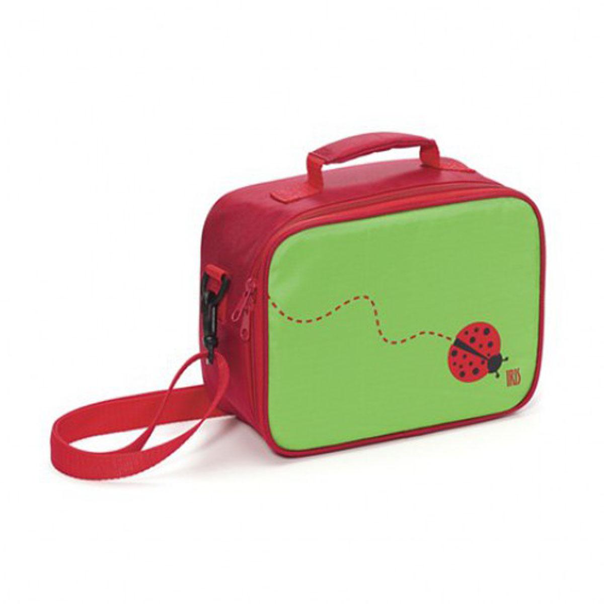 IRIS Термосумка ЛанчБокс SNACK RICO/ Зеленая9918-TI«СнэкРико» МиниЛанч Бокс – это самый идеальный способ взять с собой в школу вашу лю-бимую еду!Изнутри покрыт специальным теплоизолирующим материалом, способным надолго сохра-нить свежесть и вкус.Внутри есть сетчатый карман для салфеток, столовых приборов или аксессуаров и т.п. Сна-ружи есть карман на молнии для личных вещей и пластиковый прозрачный кармашек для карточки с персональной информацией (имя, фамилия, телефон и пр.).Можно нести в руках или повесить на плечо. Плечевой ремень регулируется по длине.В комплект входит подарок – забавный брелок для ключей из коллекции «СнэкРико».