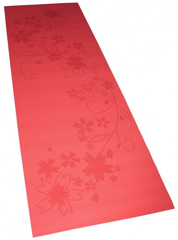 Коврик для фитнеса и йоги Alonsa, с чехлом, цвет: красный с принтом, 180 см х 60 см х 0,8 см мяч массажный alonsa цвет серебристый 20 см