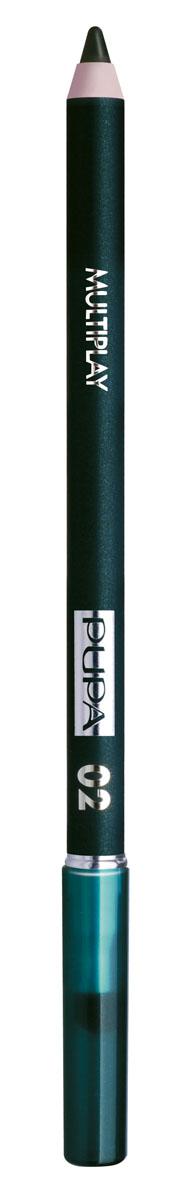 PUPA Карандаш для век с аппликатором Multiplay Eye Pencil, тон 02 электрик зеленый , 1.2 г244002Pupa Multiplay - карандаш для глаз 3 в 1. Сочетает в себе эффект карандаша для глаз для интенсивного цвета, эффект подводки и эффект теней для век. В состав карандаша входит масло жожоба, витамин Е и масло семени хлопчатника для защитного и успокоительного эффекта.Исключительная кремообразная текстура и латексный аппликатор обеспечивают легкое и безупречное нанесение. Характеристики:Вес: 1,2 г. Тон: №02. Производитель: Италия. Артикул: 244002. Товар сертифицирован. Pupa - итальянский бренд, принадлежащий компании Micys. Компания была основана в 1970-х годах в Милане и стала любимым детищем семьи Гатти.Pupa - это декоративная косметика для тех, кто готов экспериментировать, создавать новые образы и менять свой стиль в поисках новых проявлений своей индивидуальности. Яркие цвета Pupa воплощают в себе особенное видение красоты как многогранного сочетания чувственности и эпатажа, нежности и дерзости, изысканности и простоты.Pupa не забывает и о здоровье, прежде всего - здоровье кожи. Составы косметики Pupa тщательно тестируются на безопасность для кожи и постоянно совершенствуются по мере появления новых научных разработок.