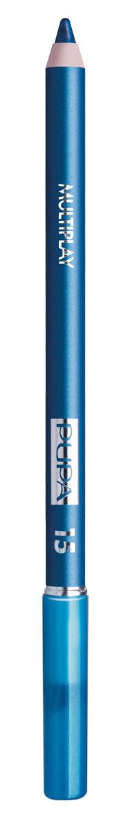 PUPA Карандаш для век с аппликатором Multiplay Eye Pencil, тон 15 сине-зеленый , 1.2 г244015Pupa Multiplay - карандаш для глаз 3 в 1. Сочетает в себе эффект карандаша для глаз для интенсивного цвета, эффект подводки и эффект теней для век. В состав карандаша входит масло жожоба, витамин Е и масло семени хлопчатника для защитного и успокоительного эффекта.Исключительная кремообразная текстура и латексный аппликатор обеспечивают легкое и безупречное нанесение. Характеристики:Вес: 1,2 г. Тон: №15. Производитель: Италия. Артикул: 244015. Товар сертифицирован. Pupa - итальянский бренд, принадлежащий компании Micys. Компания была основана в 1970-х годах в Милане и стала любимым детищем семьи Гатти.Pupa - это декоративная косметика для тех, кто готов экспериментировать, создавать новые образы и менять свой стиль в поисках новых проявлений своей индивидуальности. Яркие цвета Pupa воплощают в себе особенное видение красоты как многогранного сочетания чувственности и эпатажа, нежности и дерзости, изысканности и простоты.Pupa не забывает и о здоровье, прежде всего - здоровье кожи. Составы косметики Pupa тщательно тестируются на безопасность для кожи и постоянно совершенствуются по мере появления новых научных разработок.
