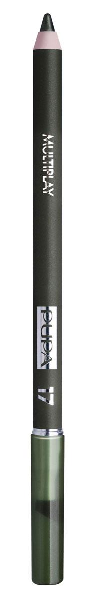 PUPA Карандаш для век с аппликатором Multiplay Eye Pencil, тон 17 еловый зеленый , 1.2 г244017Pupa Multiplay - карандаш для глаз 3 в 1. Сочетает в себе эффект карандаша для глаз для интенсивного цвета, эффект подводки и эффект теней для век. В состав карандаша входит масло жожоба, витамин Е и масло семени хлопчатника для защитного и успокоительного эффекта.Исключительная кремообразная текстура и латексный аппликатор обеспечивают легкое и безупречное нанесение. Характеристики:Вес: 1,2 г. Тон: №17. Производитель: Италия. Артикул: 244017. Товар сертифицирован. Pupa - итальянский бренд, принадлежащий компании Micys. Компания была основана в 1970-х годах в Милане и стала любимым детищем семьи Гатти.Pupa - это декоративная косметика для тех, кто готов экспериментировать, создавать новые образы и менять свой стиль в поисках новых проявлений своей индивидуальности. Яркие цвета Pupa воплощают в себе особенное видение красоты как многогранного сочетания чувственности и эпатажа, нежности и дерзости, изысканности и простоты.Pupa не забывает и о здоровье, прежде всего - здоровье кожи. Составы косметики Pupa тщательно тестируются на безопасность для кожи и постоянно совершенствуются по мере появления новых научных разработок.
