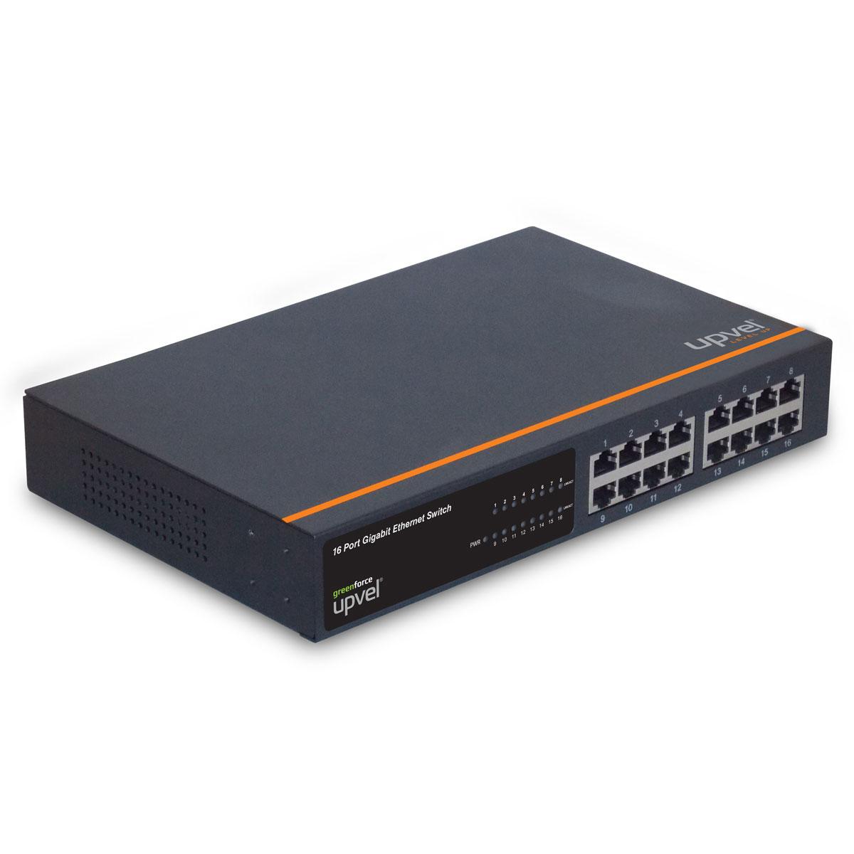 UPVEL US-16G коммутаторUS-16G16-портовый гигабитный настольный коммутатор US-16G с поддержкой технологии GREENforce. US-16Gобеспечивает высокую скорость передачи данных, отличается удобством использования, высокой надежностью ипредоставляет вам простой способ перейти на Gigabit Ethernet. При этом устройство позволяет в некоторыхслучаях сократить энергопотребление на 40%. Высокая общая пропускная способность 16 Гбит/с с поддержкойдуплексного режима позволяют повысить производительность и избежать перегрузок сети. Устройствопомещено в прочный металлический корпус, поддерживает технологию Plug and Play, что позволяет создатьнадежную и высокопроизводительную сеть без дополнительной настройки.Пропускная способность: 32 Мбит/сСтандарт:IEEE 802.3 10Base-T IEEE 802.3u 100Base-TX IEEE 802.3ab 1000BASE-T IEEE 802.3x Flow Control Скорость передачи данных:Ethernet: 10Мбит/с / 20Мбит/с (Half/Full-Duplex), Fast Ethernet: 100Мбит/с / 200Мбит/с (Half/Full-Duplex) Gigabit Ethernet: 2000Мбит/с (Full-Duplex)