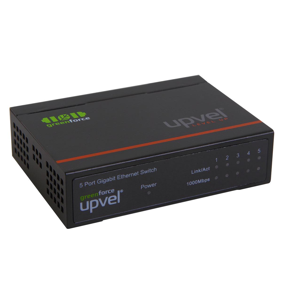 UPVEL US-5G коммутаторUS-5G5-портовый гигабитный настольный коммутатор US-5G с поддержкой технологии GREENforce. US-5G обеспечивает высокую скорость передачи данных, отличается удобством использования, высокой надежностью и предоставляет вам простой способ перейти на Gigabit Ethernet. При этом устройство позволяет в некоторых случаях сократить энергопотребление на 70%. Высокая общая пропускная способность 10 Гбит/с с поддержкой дуплексного режима позволяют повысить производительность и избежать перегрузок сети. Устройство помещено в прочный металлический корпус, поддерживает технологию Plug and Play, что позволяет создать надежную и высокопроизводительную сеть без дополнительной настройки.Пропускная способность коммутационной матрицы: 10 Гбит/сТаблица коммутации: 4000 записей для каждого подключенного устройстваИндикаторы: Power, Link/ACT, 1000 Мбит/сСтандарт: IEEE 802.3 10Base-TIEEE 802.3u 100Base-TXIEEE 802.3ab 1000BASE-TIEEE 802.3x Flow ControlСкорость передачи данных:Ethernet: 10 / 20 Мбит/с (полудуплексный / дуплексный режим)Fast Ethernet: 100 / 200 Мбит/с (полудуплексный / дуплексный режим)Gigabit Ethernet: 1 / 2 Гбит/с (полудуплексный / дуплексный режим)