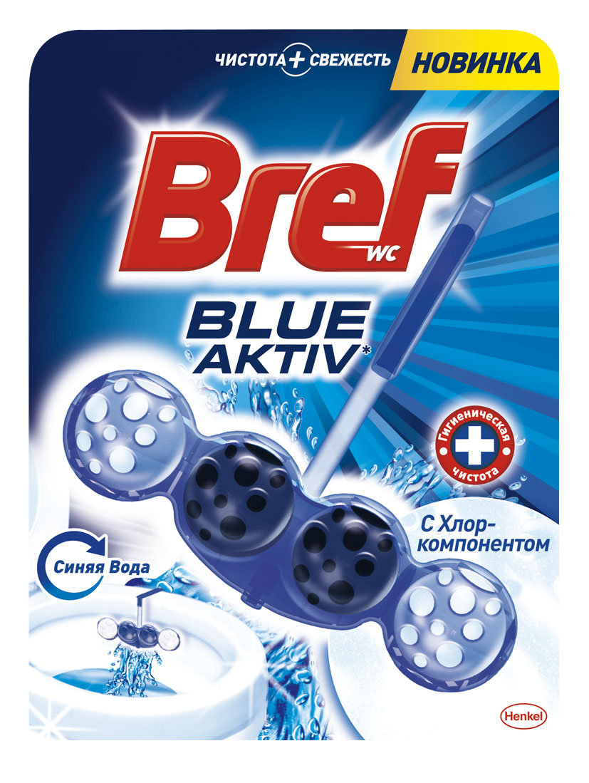 Чистящее средство для унитаза Bref Blue-Aktiv с Хлор-компонентом 50г934822Чистящее средство для унитаза Bref Blue-Aktiv с Хлор-компонентом - это подвесной туалетный блок с формулой 4 в 1, который обеспечивает:1. Гигиеническую чистоту2. Защиту от известкового налета3. Свежесть4. Обильную пену Тройная упаковка Bref Сила-Актив - выгодное предложение!Освободите корзинку от упаковки. Повесьте Bref Сила-Актив под ободок Вашего унитаза.Состав: >30% анионные ПАВ, Товар сертифицирован.