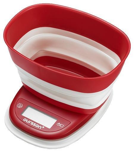 Oursson KS5006PD, Red кухонные весы кухонные весы oursson ks5009gd rd