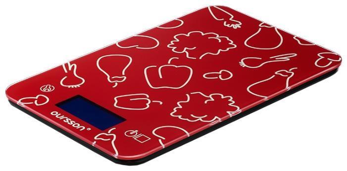 Oursson KS5009GD, Red кухонные весы кухонные весы oursson ks5009gd rd