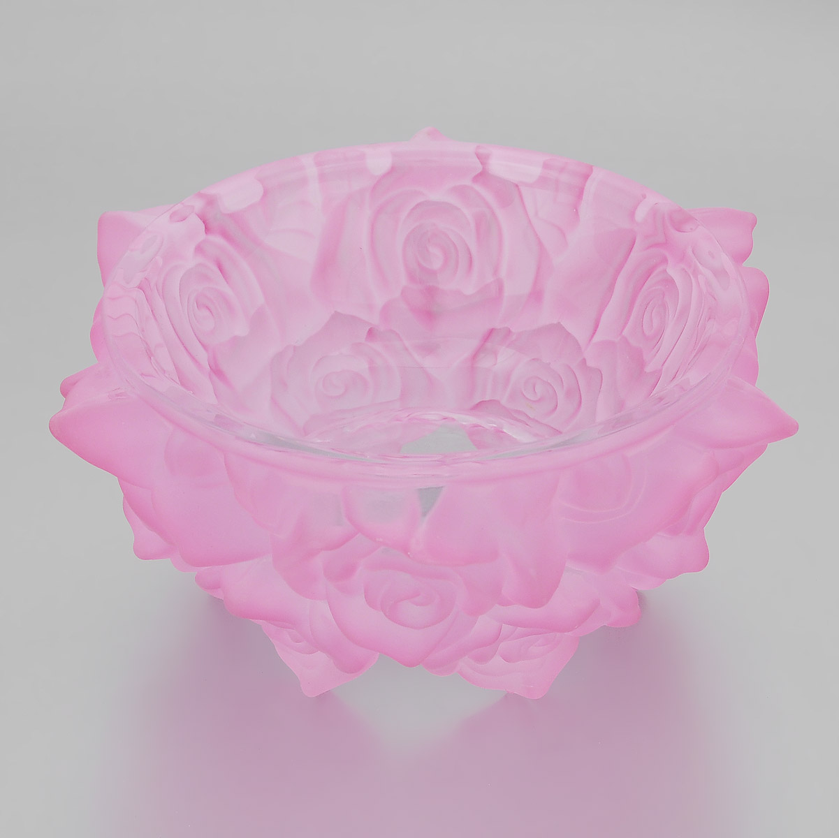 Подсвечник Crystalite Bohemia Роза, цвет: розовый, диаметр 16,5 см