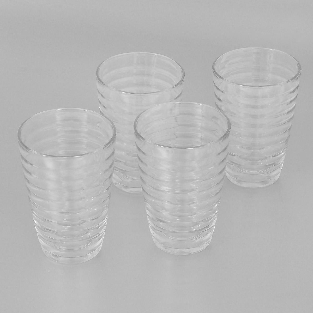 Набор стаканов Bormioli Rocco Viva, 340 мл, 4 шт515020СМ1821990Набор Bormioli Rocco Viva, выполненный из стекла, состоит из 4 высоких стаканов. Стаканы предназначены для подачи холодных напитков. Изделия ударопрочные, выдерживают температуру от -20°С до 100°С, также можно использовать в посудомоечной машине и в микроволновой печи. С внешней стороны поверхность стаканов рельефная, что создает эффект игры света и преломления. Благодаря такому набору пить напитки будет еще вкуснее.Стаканы Bormioli Rocco Viva станут идеальным украшением праздничного стола и отличным подарком к любому празднику. С 1825 года компания Bormioli Rocco производит высококачественную посуду из стекла. На сегодняшний день это мировой лидер на рынке производства стеклянных изделий. Ассортимент, предлагаемый Bormioli Rocco необычайно широк - это бокалы, фужеры, рюмки, графины, кувшины, банки для сыпучих продуктов и консервирования, тарелки, салатники, чашки, контейнеры различных емкостей, предназначенные для хранения продуктов в холодильниках и морозильных камерах и т.д. Стекло сочетает в себе передовые технологии и традиционно высокое качество.