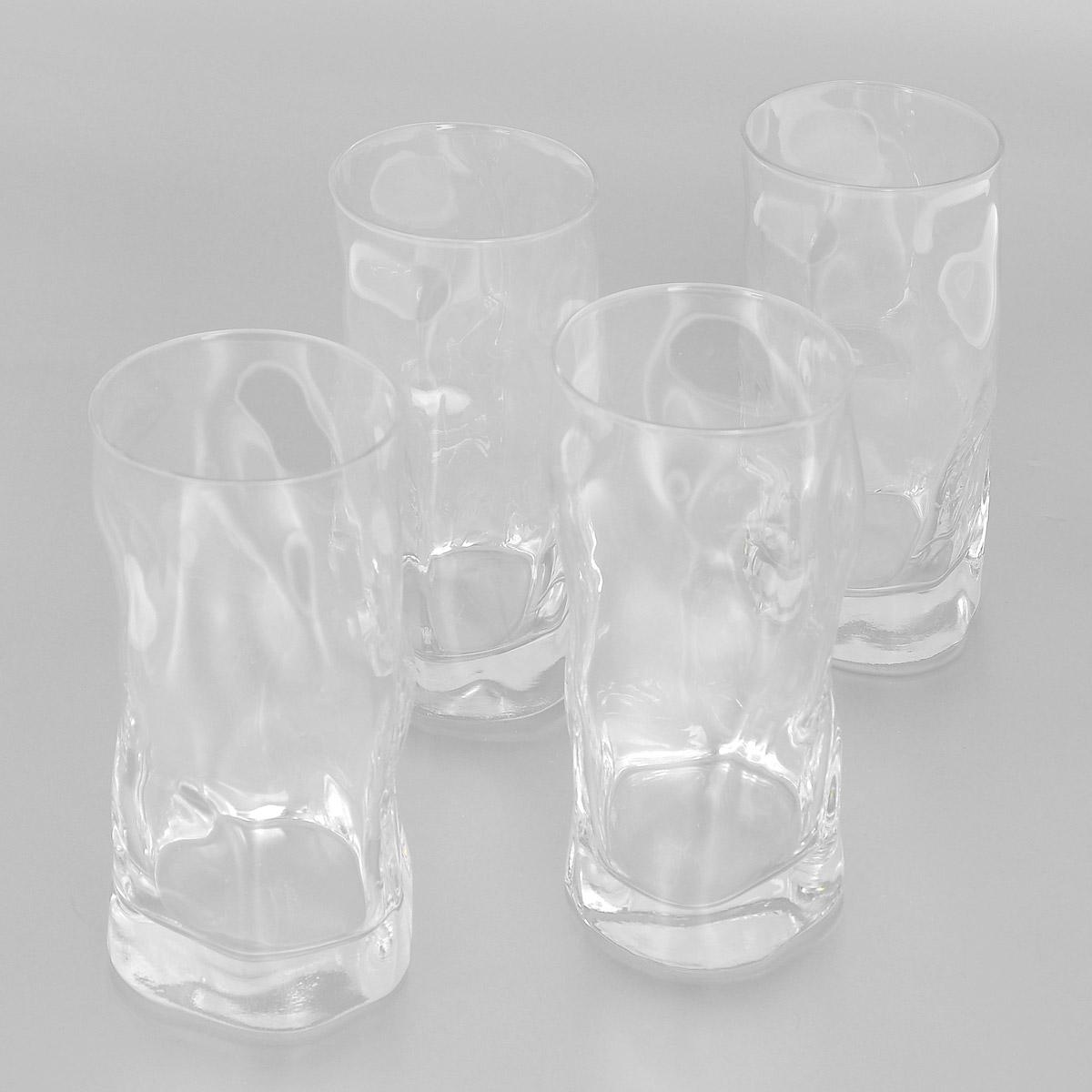 Набор стаканов Bormioli Rocco Sorgente, 460 мл, 4 шт340360G10021990Набор Bormioli Rocco Sorgente, выполненный из стекла, состоит из 4 высоких стаканов. Стаканы предназначены для подачи холодных напитков. Изделия имеют оригинальный дизайн, который поможет украсить любой праздничный стол. Благодаря такому набору пить напитки будет еще вкуснее.Стаканы Bormioli Rocco Sorgente станут отличным подарком к любому празднику. С 1825 года компания Bormioli Rocco производит высококачественную посуду из стекла. На сегодняшний день это мировой лидер на рынке производства стеклянных изделий. Ассортимент, предлагаемый Bormioli Rocco необычайно широк - это бокалы, фужеры, рюмки, графины, кувшины, банки для сыпучих продуктов и консервирования, тарелки, салатники, чашки, контейнеры различных емкостей, предназначенные для хранения продуктов в холодильниках и морозильных камерах и т.д. Стекло сочетает в себе передовые технологии и традиционно высокое качество.