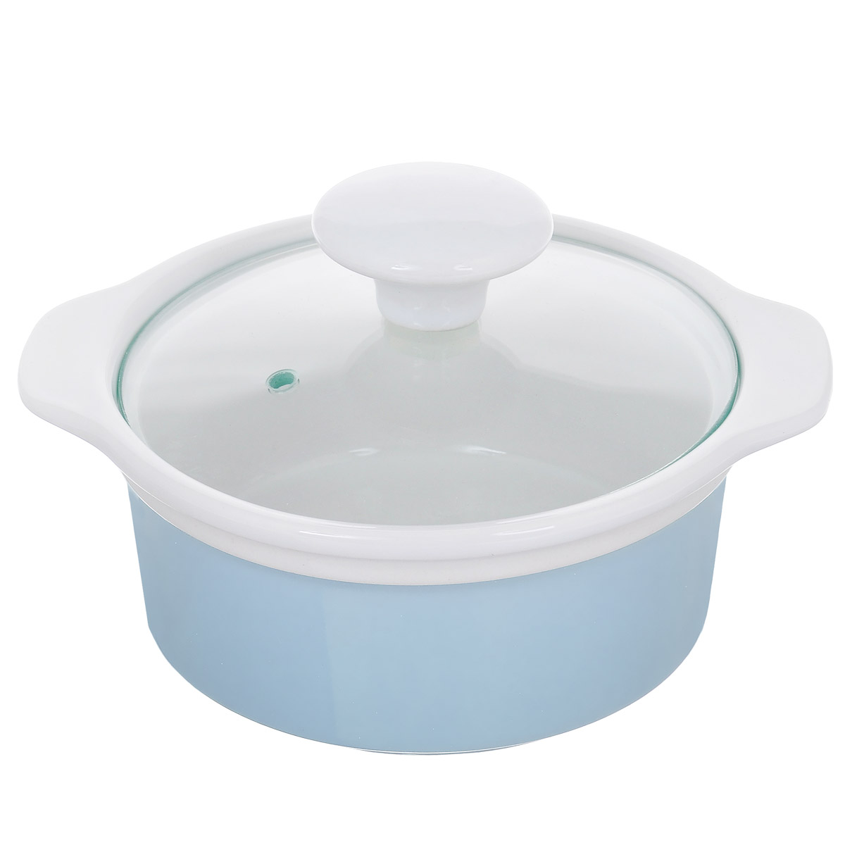 Кастрюля с крышкой, цвет: голубой, 0,6 л. Кт CX002SCX002S-BB (F)Кастрюля выполнена из высококачественной глазурованной керамики и предназначена для запекания различных блюд. Крышка кастрюли изготовлена из стекла с керамической ручкой и отверстием для пара. Можно мыть в посудомоечной машине и использовать в духовом шкафу. Не пригодна для использования на газовой плите. Это идеальный подарок для современных хозяек, которые следят за своим здоровьем и здоровьем своей семьи. Эргономичный дизайн и функциональность позволят вам наслаждаться процессом приготовления любимых, полезных для здоровья блюд.Внутренний диаметр: 12 см.Ширина (с учетом ручек) 17,5 см.Высота стенки: 6,7 см.