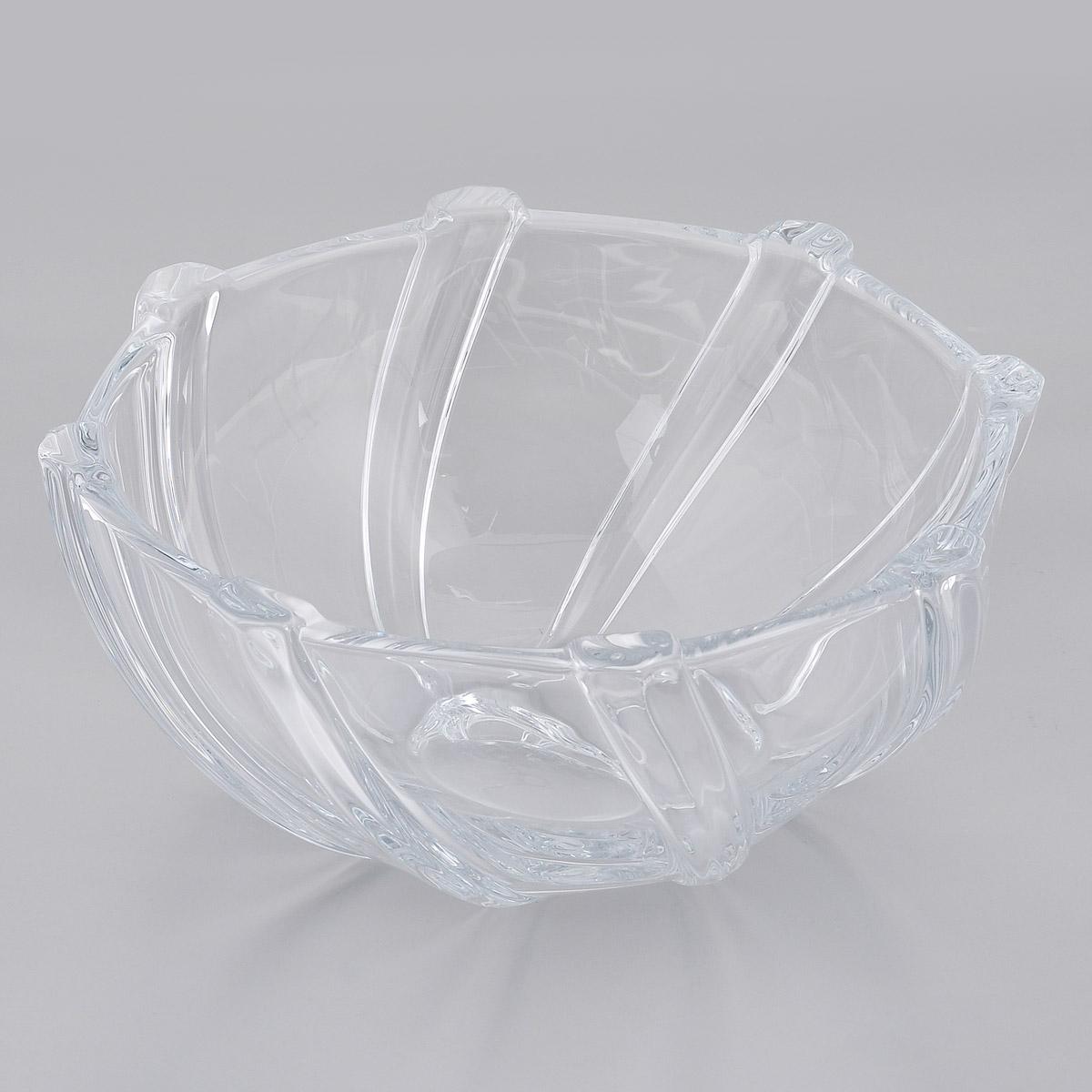 Салатник Crystalite Bohemia Инфинити, диаметр 28 см6KA66/0/99M20/280Изящный салатник Crystalite Bohemia Инфинити изготовлен из прочного утолщенного стекла кристалайт. Он красиво переливается и излучает приятный блеск. Оригинальная слегка закрученная поверхность и выпуклые вставки делают его изящным украшением интерьера. Салатник Crystalite Bohemia Инфинити займет достойное место среди аксессуаров на вашей кухне и станет желанным и стильным подарком.Можно использовать в микроволновой печи и посудомоечной машине.