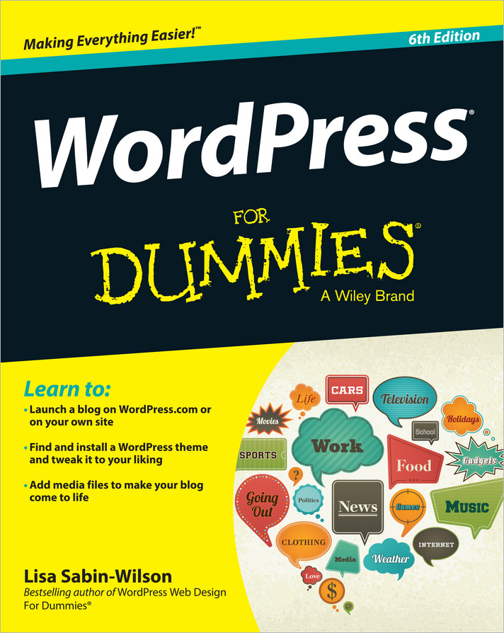 WordPress For Dummies lisa sabin wilson wordpress all in one for dummies
