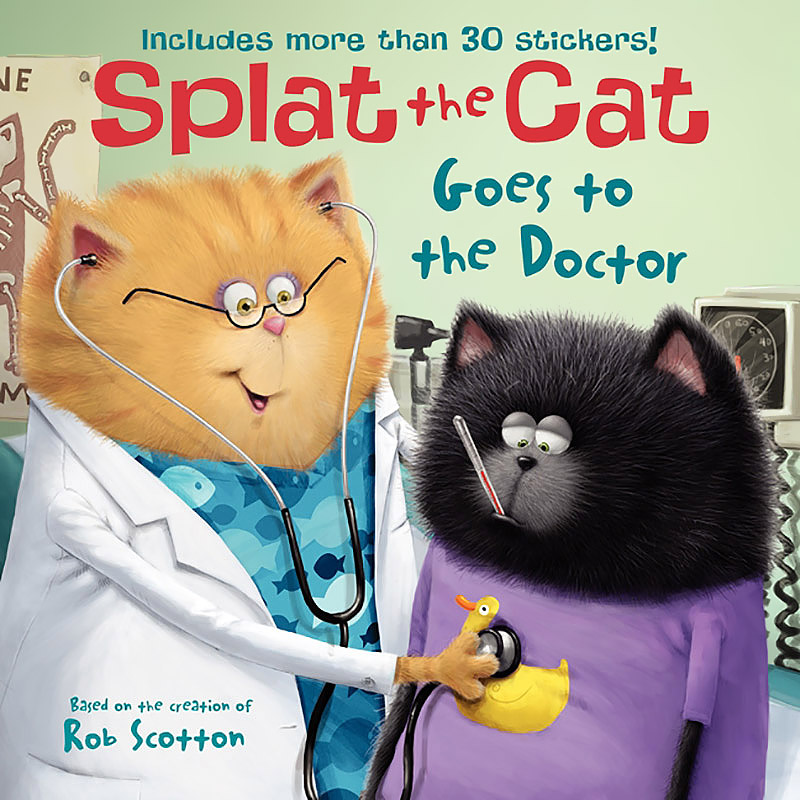 Splat the Cat Goes to the Doctor it s all about scary spiders