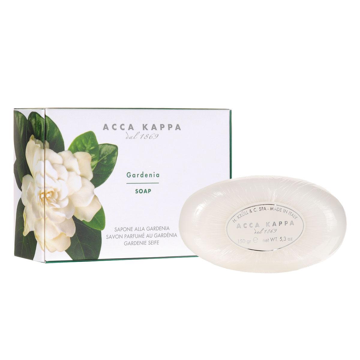 Acca Kappa Растительное мыло Гардения, 150 г853370Растительное мыло Гардения деликатно очищает кожу. Идеально подходит для всех типов кожи. Растительные компоненты получены из кокосового масла и сахарного тростника, прекрасно очищают и увлажняют кожу. Экстракты мелиссы лимонной, омелы, ромашки, тысячелистника и хмеля известны своими противовоспалительными свойствами и превосходно дополняют формулу. Так же мыло обогащено аллантоином растительного происхождения, которое обладает заживляющими свойствами и способствует регенерации клеток.Товар сертифицирован.