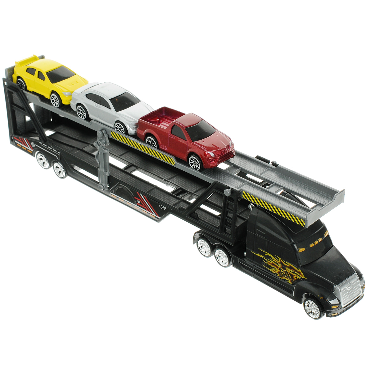 MotorMax Игровой набор Car Transporter цвет черный motormax трансформирующийся в аэропорт