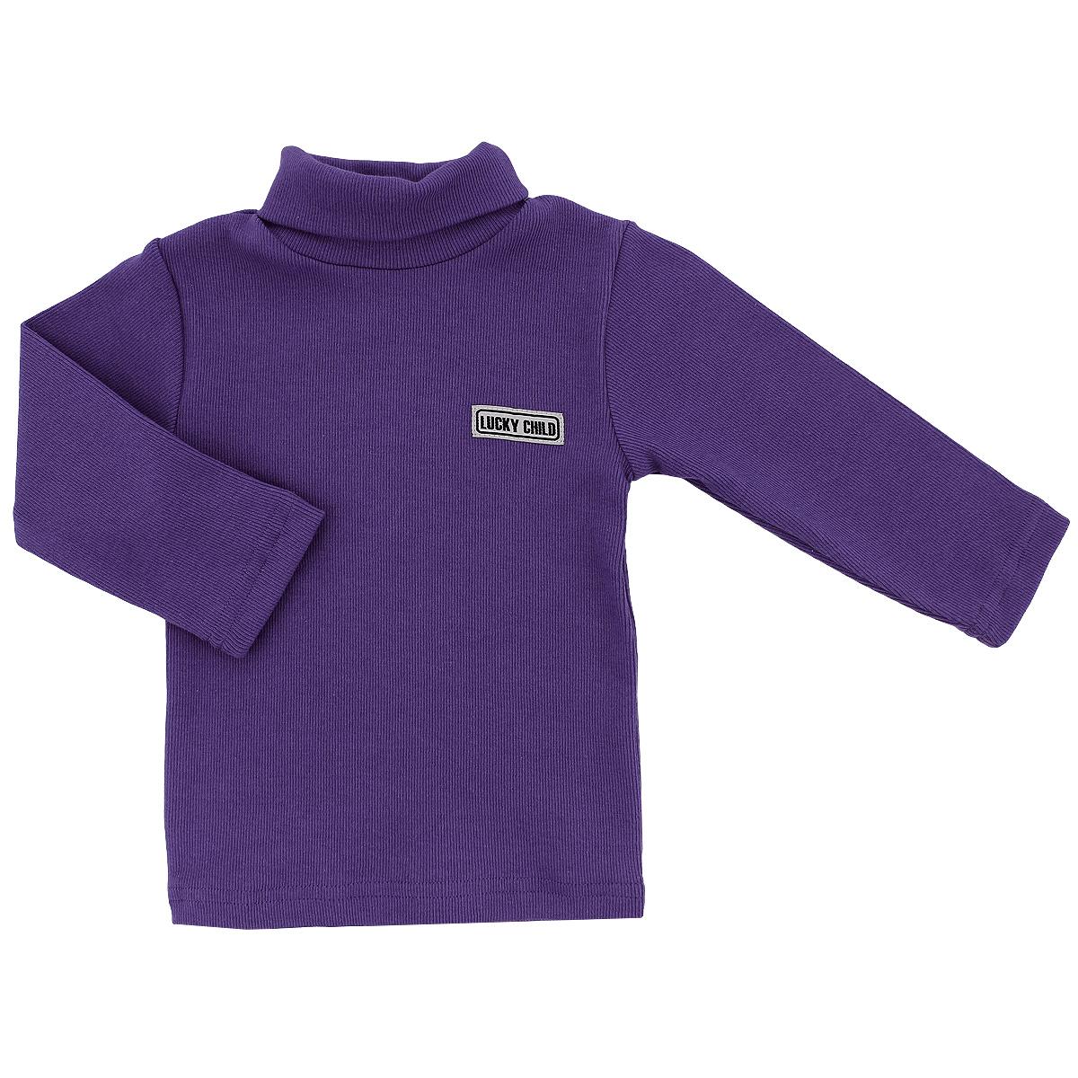 Водолазка детская Lucky Child, цвет: фиолетовый. 7-11. Размер 110/1167-11/ фиолетовыйВеликолепная детская водолазка Lucky Child идеально подойдет вашему ребенку. Изготовленная из натурального хлопка, она необычайно мягкая и приятная на ощупь, не сковывает движения малыша и позволяет коже дышать, не раздражает даже самую нежную и чувствительную кожу ребенка, обеспечивая ему наибольший комфорт. Водолазка классического кроя с длинными рукавами и воротником-гольф. Оригинальный современный дизайн и модная расцветка делают эту водолазку модным и стильным предметом детского гардероба. В ней ваш ребенок будет чувствовать себя уютно и комфортно, и всегда будет в центре внимания!