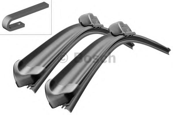 Щетки стеклоочистителя Bosch Aerotwin Retro, бескаркасные, 530 мм/530 мм, 2 шт3397118903Комплект щеток стеклоочистителя Bosch Aerotwin предназначен для Audi A4/A6, VW Passat/T4 96-03.Бескаркасные стеклоочистители с оригинальным креплением. Даже на высоких скоростях можно положиться на Aerotwin: их аэродинамическая конструкция гарантирует лучший обзор - даже в самых притязательных погодных условиях. Простейшая замена стеклоочистителей, благодаря предварительно установленному, характерному для автомобиля оригинальному адаптеру. Стеклоочистители обеспечивают высочайшее качество очистки. Прекрасный результат очистки в любой точке стекла, благодаря высокотехнологичной пружинной направляющей и аэродинамически оптимизированному профилю. Минимальные шумы ветра, благодаря меньшей площади воздействия встречного воздуха. Улучшенная пригодность к работе в зимних условиях, потому что лед не примерзает к щетке.Стеклоочистители имеют усовершенствованную конструкцию: встроенный аэродинамический спойлер.