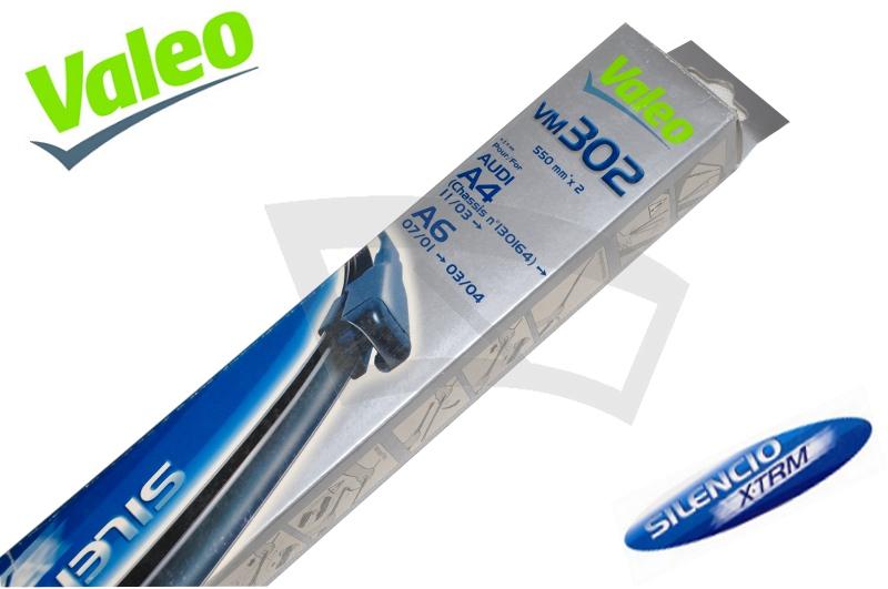 Комплект щеток стеклоочистителя Valeo Silencio X-trm, бескаркасные, размер 22 (55 см) и 22 (55 см), 2 шт574303Щетки стеклоочистителя Valeo Silencio X-trm предназначены для механической очистки стекол автомобилей от воды, снега, дорожной грязи и других загрязнений. Усиленный прижим для большей эффективности.Щетки предназначены для использования с автомобилями:Audi A4Audi A4 AvantAudi A6Audi A6 AvantSeat EXEOSeat EXEO ST