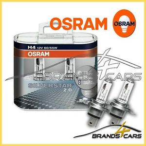 Купить OSRAM лампа галоген H4 P43t 12V 60/55W SILVERSTAR 2.0, + 60% больше света, увеличенный в 2 раза срок службы. Лампа накаливания в противотуманную фару, фару ближнего/дальнего света SILVERSTARR 2.0 , (пластиковый бокс 2 шт)
