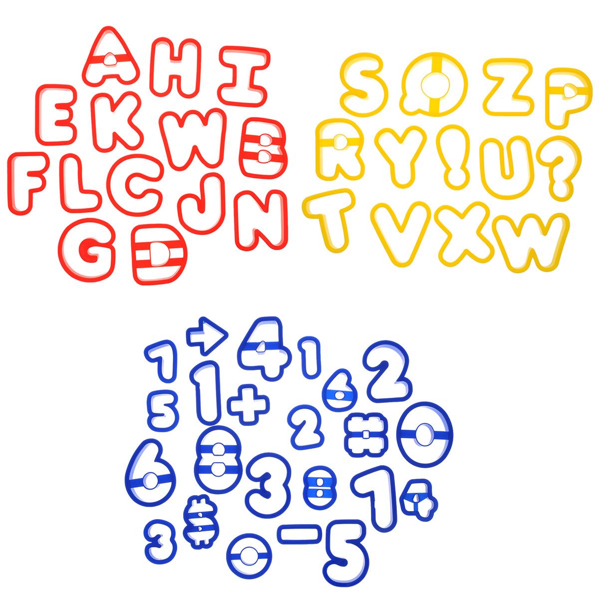 Набор форм для вырезания печенья Wilton Буквы и цифры, 50 шт набор форм и украшений джунгли 12 шт 415 1564 wilton