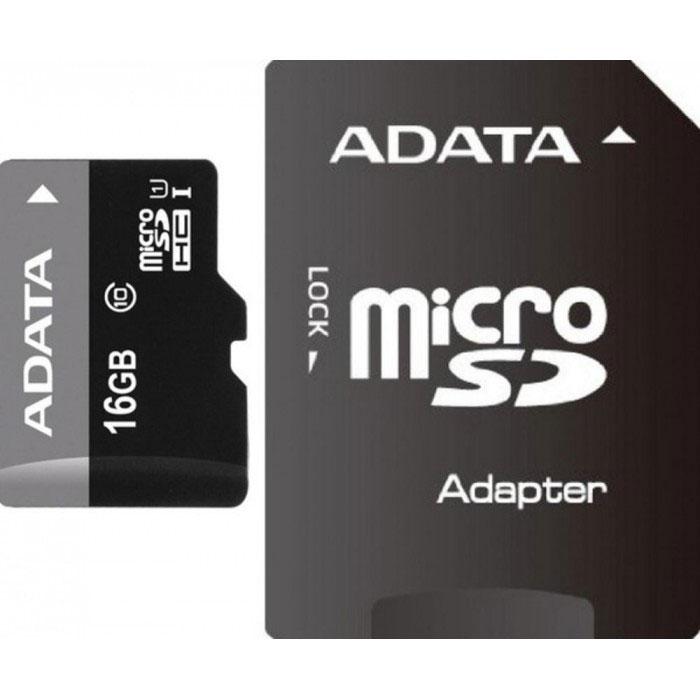 ADATA Premier microSDHC 16GB Class 10 UHS-I карта памяти + адаптер adata sdhc premier uhs i class 10 32gb