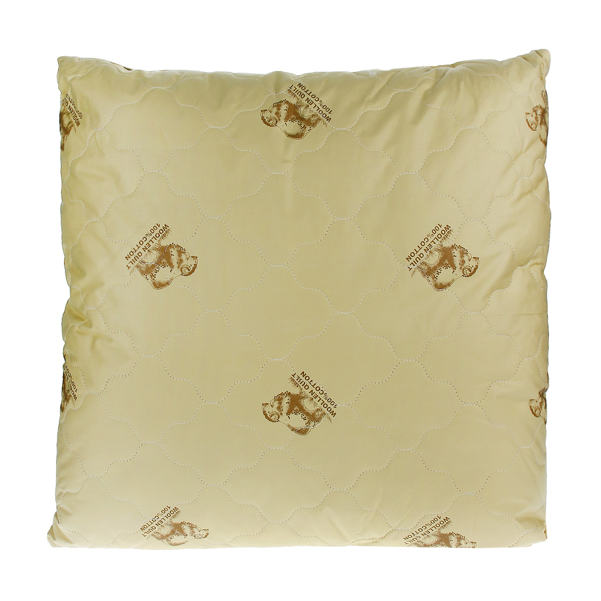 Подушка Овечка, цвет: темно-бежевый, 68 х 68 см2908-68-07темно-бежевый