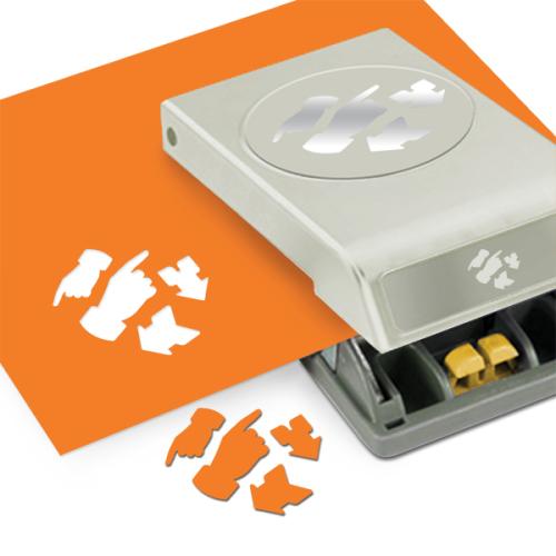 Фигурный дырокол EKSuccess Tools НаправленияEKS-54-30231Фигурный дырокол EKSuccess Tools Направления используют для создания оригинальных открыток, подарков, в бумажном творчестве. С помощью такого дырокола можно создать красивые фигурки для вашей открытки, скрапстраницы и т.д. Форма дырокола удобна для хранения. Вставьте бумагу в дырокол и надавите на рычаг, выньте и разогните лист, готовую фигурку выгните в противоположную сторону. Для декорирования используйте и отверстие в листе, и фигурку. Для лучшего результат при надавливании на дырокол используйте верхнюю часть рычага.Плотность бумаги: 120-160 г/м2. Диаметр фигурок: 2,5 см, 3,5 см, 5 см.