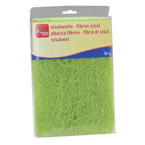 Сизаль Hobby Time, цвет: зеленый (72), 30 г7705272Сизаль Hobby Time является необыкновенным аксессуаром для флористики и упаковки подарков. Это тонкие, прочные волокна, которые изготовляют из листьев агавы. Сизаль окрашивается в различные цвета и затем из его волокон плетут декоративные веревки, украшают металлические каркасы для букетов, используют его в изготовлении корзин. В подарочной упаковке сизаль удачно используют в изготовлении оригинального оберточного материала. Также сизаль используют как наполнитель в коробках. Во многих флористических композициях сизаль создает легкое облако над букетом, придавая воздушность и свежесть цветам. В рождественских декорациях сизаль подчеркивает зимнее настроение коллекций. Такой материал можно комбинировать с различными аксессуарами, как с природными - веточки, шишки, скорлупа, кора, перья так и с искусственными - стразы, бисер, бусины. Уникальная токая структура волокон позволят создавать новые формы. Вес: 30 г.