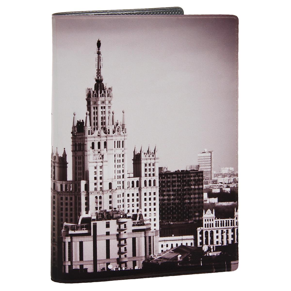 Обложка для паспорта Сталинская высотка. OZAM282ПВХ (поливинилхлорид)Обложка для паспорта Mitya Veselkov Сталинская высотка выполнена из прочного ПВХ и оформлена изображением одной из сталинских высоток. Такая обложка не только поможет сохранить внешний вид ваших документов и защитит их от повреждений, но и станет стильным аксессуаром, идеально подходящим вашему образу.Яркая и оригинальная обложка подчеркнет вашу индивидуальность и изысканный вкус. Обложка для паспорта стильного дизайна может быть достойным и оригинальным подарком.